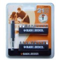 A7074 Набор бит, 21 предмет Black&Decker