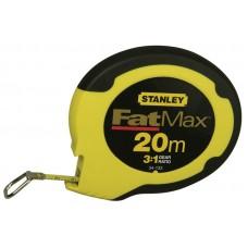 """0-34-133 Рулетка измерительная длинная """"FATMAX"""" со стальной лентой, 20м х 10мм STANLEY"""