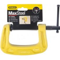 """0-83-033 Струбцина C-образная """"MAXSTEEL"""", 75 мм STANLEY"""