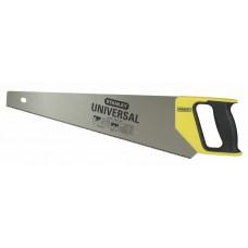 1-20-002 Ножовка универсальная с закаленным зубом 12 tpi, 380 мм STANLEY