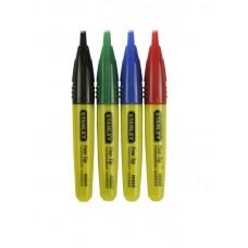 """2-47-329 Набор мини-маркеров """"STANLEY"""" с заостренным наконечником, 4 цвета STANLEY"""