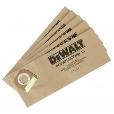 DCV9401 Мешки бумажные, 5 шт. для DСV586 DeWALT