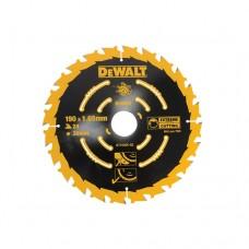DT10304 Диск пильный Extreme, 190х30 мм 24 зуба по дереву DeWALT