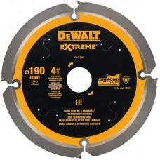 DT1472 Диск пильный по фиброцементу, 190х30 мм 4 зуба DeWALT
