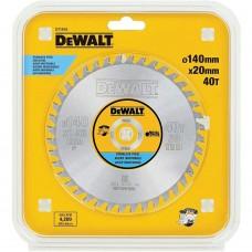 DT1918 Диск пильный по нержавеющей стали, 140х20 мм 40 зубов DeWALT