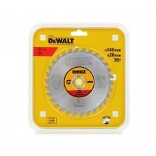 DT1923 Диск пильный по металлу, 140х20 мм 30 зубов DeWALT