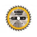 DT1933 Диск пильный CONSTRUCTION, 165х20 мм 18 зубов по дереву с гвоздями DeWALT