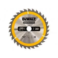 DT1932 Диск пильный CONSTRUCTION, 160х20 мм 30 зубов по дереву с гвоздями DeWALT