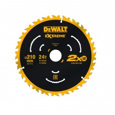 DT20432 Диск пильный Extreme, 210х30 мм 24 зуба по дереву DeWALT