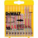 DT2292 Набор пилок для лобзика по металлу, 10 шт. DeWALT