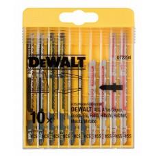 DT2294 Набор пилок для лобзика по дереву и металлу, 10 шт. DeWALT