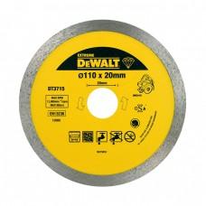 DT3715 Диск алмазный сплошной, 110х20 мм DeWALT