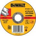 DT42201 Диск отрезной по металлу прямой, 115х3,0х22,2 мм DeWALT