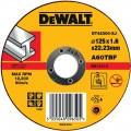 DT42300 Диск отрезной по металлу прямой, 125х1,6х22,2 мм DeWALT