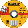 DT42301 Диск отрезной по металлу, 125х3,0х22,2 мм DeWALT