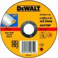 DT42341 Диск отрезной по нержавеющей стали прямой, 125х1,6х22,2 мм DeWALT