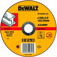 DT42400 Диск отрезной по металлу прямой, 150х3,0х22,2 мм DeWALT