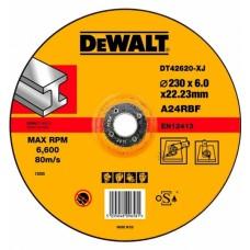 DT42620 Диск обдирочный по металлу, 230х6,0х22,2 мм DeWALT
