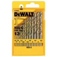 DT5922 Набор сверл по металлу HSS-G, 13 шт. DeWALT