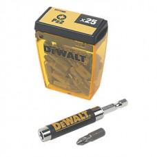 DT71560 Бит PZ2х25 мм, 25 шт. с держателем DeWALT