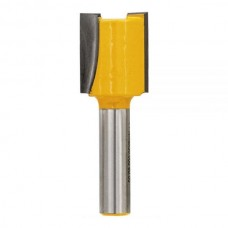 DT90010 Фреза пазовая 2 лезвия, диаметр 20 мм. хвостовик 8 мм DeWALT
