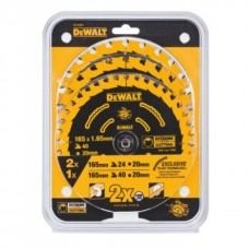 DT10397 Набор пильных дисков Extreme, 165х20 мм по дереву, 3 шт. DeWALT